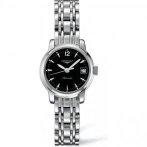 Longines Gents Black Dial Saint-Imier Automatic Watch