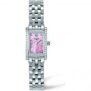 Longines Ladies Pink Dial Mini DolceVita Watch