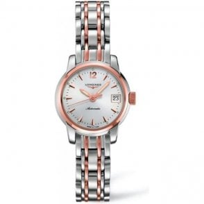 Longines Ladies Steel and 18ct Pink gold Saint-Imier Watch
