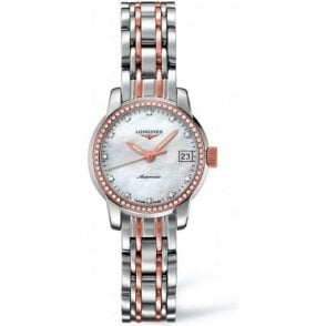 Longines Ladies Steel and Rose Gold Saint-Imier Watch