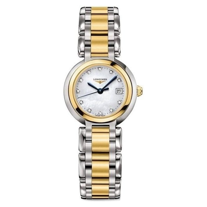 Longines Watches Longines Ladies Steel and Yellow Gold PrimaLuna Watch