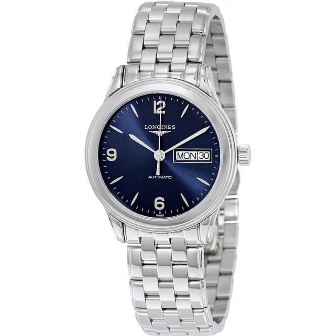 Longines Watches Longines Mens Automatic Blue Dial Flagship Watch