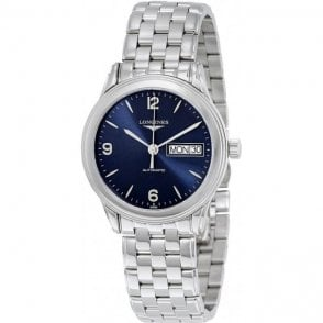 Longines Mens Automatic Blue Dial Flagship Watch