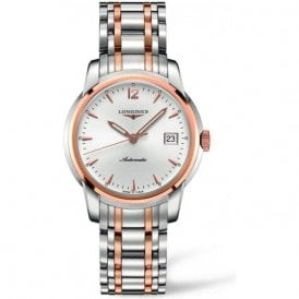 Gents steel and rose Saint-Imier bracelet watch L2 763 5 727