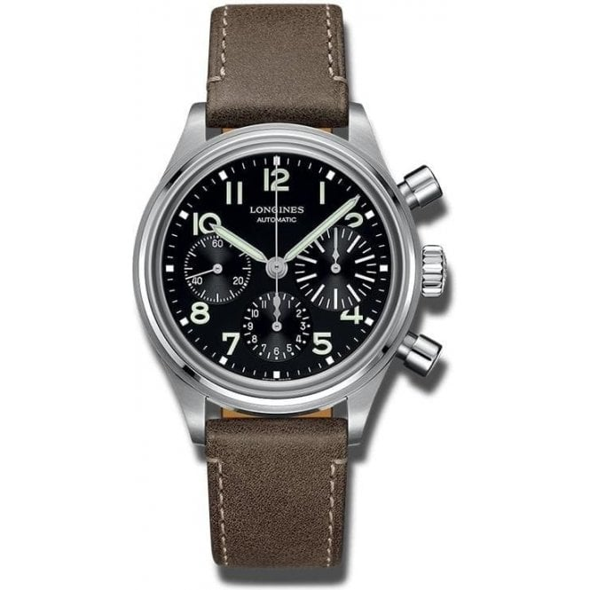 Longines Watches Gents steel Aviation Big Eye L28164534