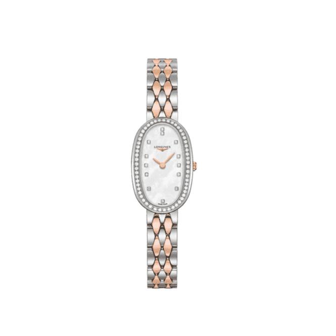 Longines Watches Ladies Longines Symphonette diamond set oval watch L2.305.5.89