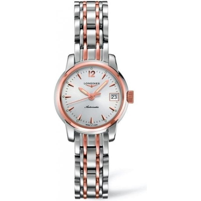 Longines Watches Ladies Steel and 18ct Rose Gold Saint-Imier Watch