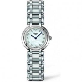 Ladies steel PrimaLuna diamond set dial watch L8 109 4 876