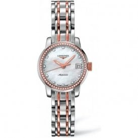Ladies steel & rose diamond set Saint-Imier Watch L2 263 5 877