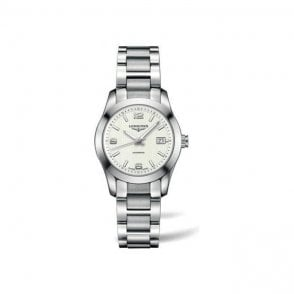 Ladies white dial Conquest Classic watch L2 285 4 766
