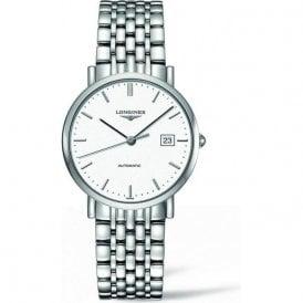 Mens white baton dial automatic Elegant watch L4 810 4 126