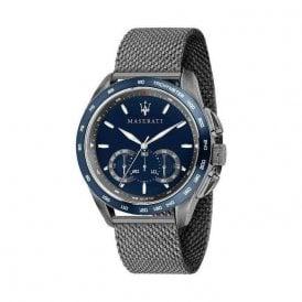 Gents steel blue dial quartz on mesh bracelet. R8873612009
