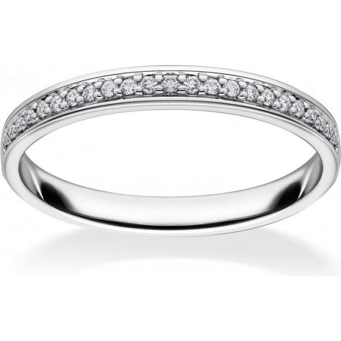 Mastercut 1/2 Eternity White Gold Ring
