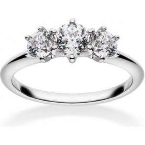 18ct White Gold 3 Stone Diamond Mastercut Ring