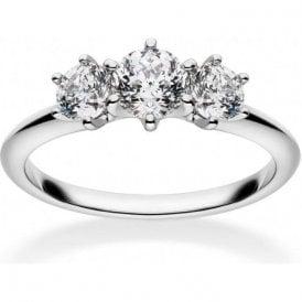 18ct White Gold 3 Stone Diamond Mastercut Ring