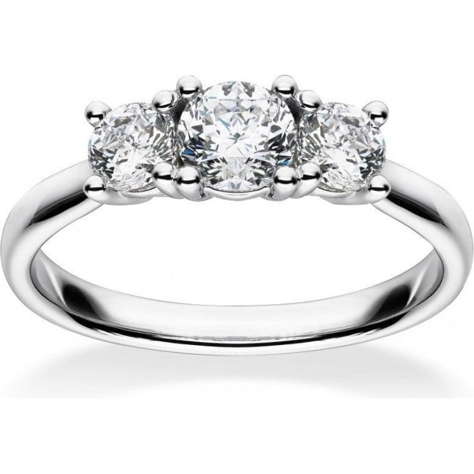 Mastercut 18ct White Gold Mastercut 3 Stone Claw Set Diamond Ring