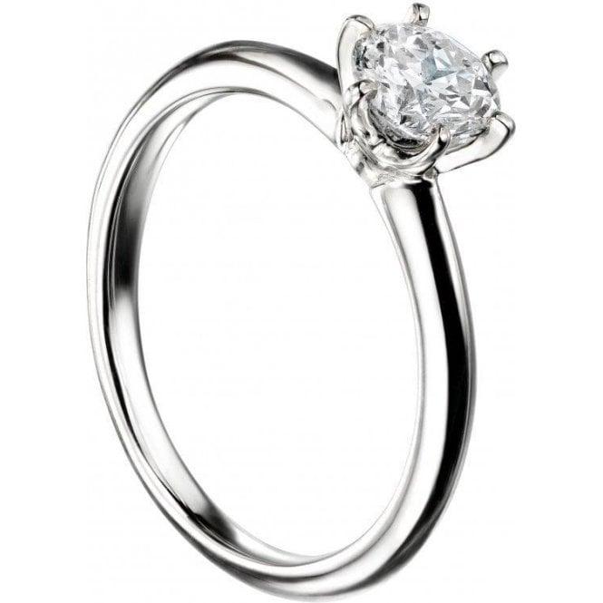 Mastercut 18ct White Gold Single Stone Mastercut Diamond Ring