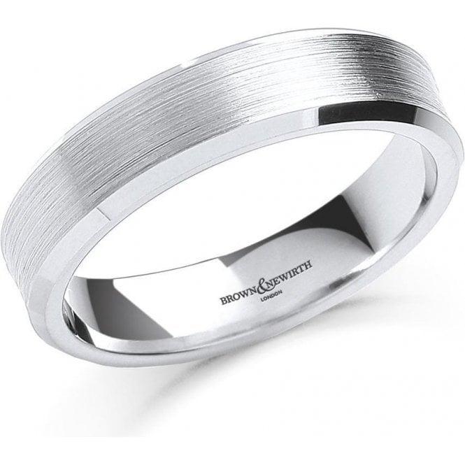 Mens Palladium Satin Finish Wedding Ring 6mm