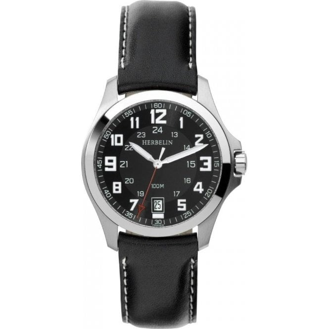 Michel Herbelin Watches Michel Herbelin Gents Stainless Steel Bachelor Strap Watch