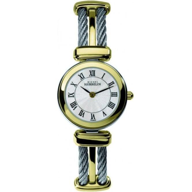 Michel Herbelin Watches Michel Herbelin Ladies Two Tone Bracelet Watch 17420/BT08