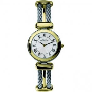 Michel Herbelin Ladies Two Tone Bracelet Watch 17420/BT08