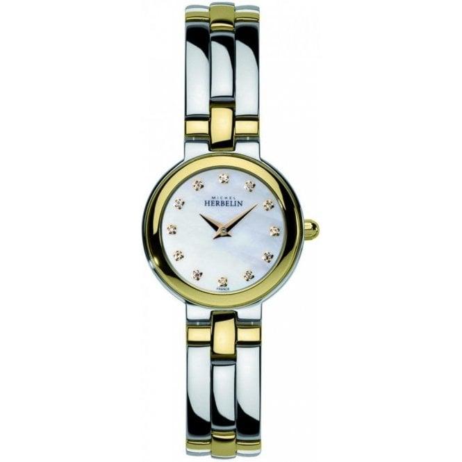 Michel Herbelin Watches Michel Herbelin Ladies Two Tone Bracelet Watch 17412/BT59