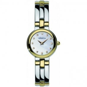 Michel Herbelin Ladies Two Tone Bracelet Watch 17412/BT59