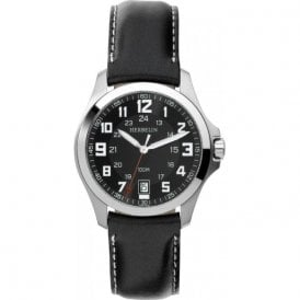 Michel Herbelin Gents Stainless Steel Bachelor Strap Watch 12240/14