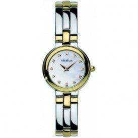 Michel Herbelin Ladies Two Tone Bracelet Watch 17412/BT59