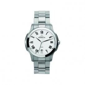 Michel Herbelin Mens Stainless Steel Ambassador Bracelet Watch 12239/B01