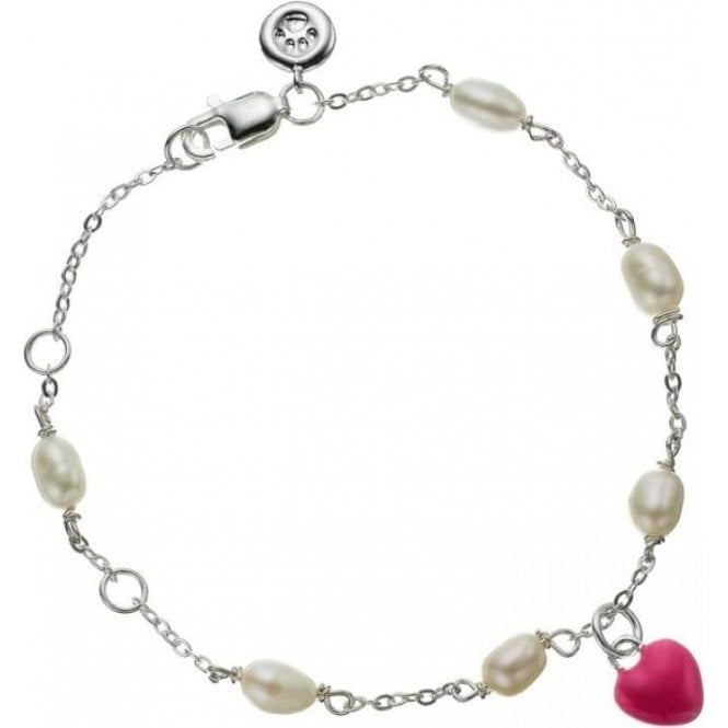 Molly Brown Pearl Station Fuschia Baby Love Bracelet