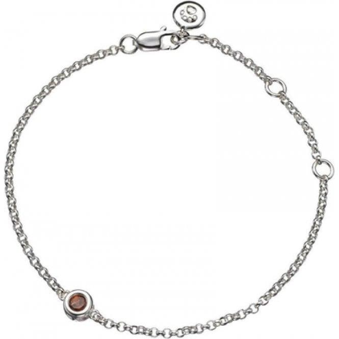 Molly Brown Silver Bracelet 1 Garnet - January Birthstone