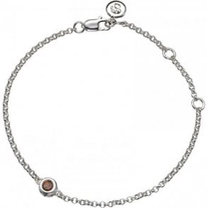 Molly Brown Silver Bracelet 1 Garnet - January Birthstone