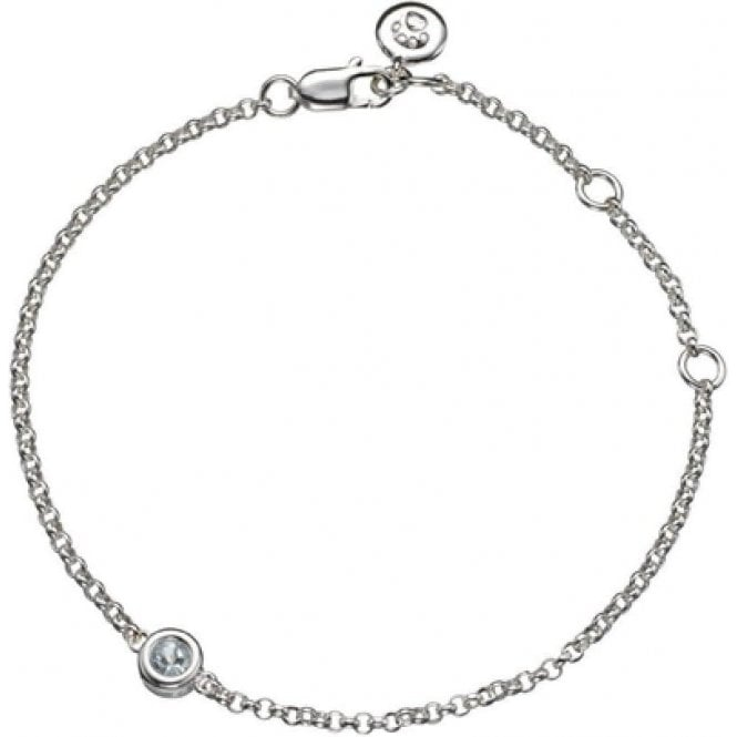 Molly Brown Silver Bracelet 3 - Aquamarine March Birthstone