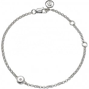Molly Brown Silver Bracelet 4 - Diamond - April Birthstone