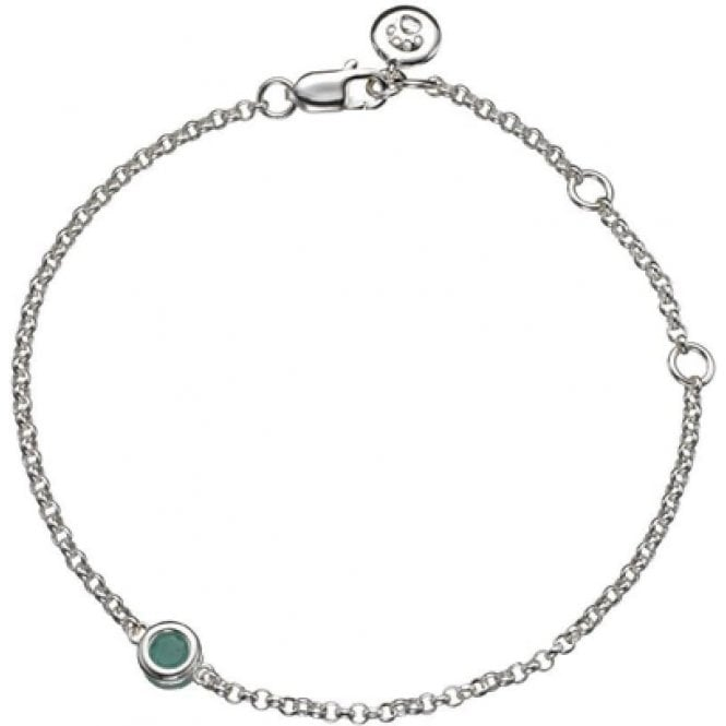 Molly Brown Silver Bracelet 5 - Emerald - May Birthstone