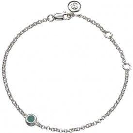 Molly Brown Silver Bracelet 5 - Emerald - May Birthstone