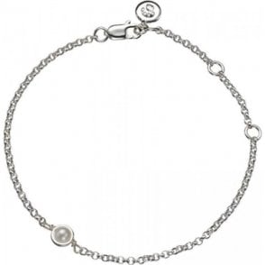 Molly Brown Silver Bracelet 6 - Pearl - June Birthstone