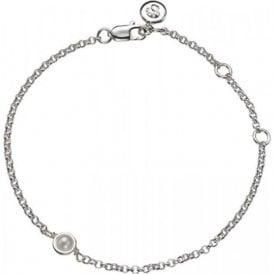 Molly Brown Silver Bracelet 6 - Pearl - June Birthstone