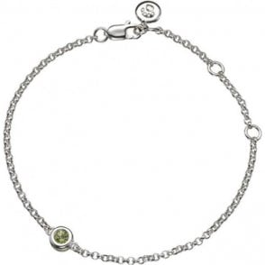 Molly Brown Silver Bracelet 8 - Peridot - August Birthstone
