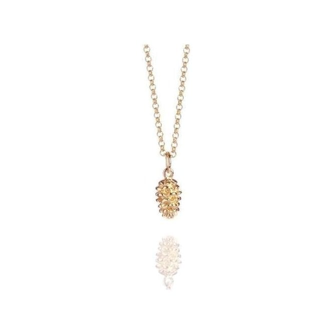 Muru Jewellery Rose Gold Plated Pine Cone Pendant RGP316