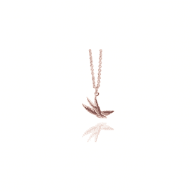 Muru Jewellery Rose Gold Plated Swallow Pendant P242RG