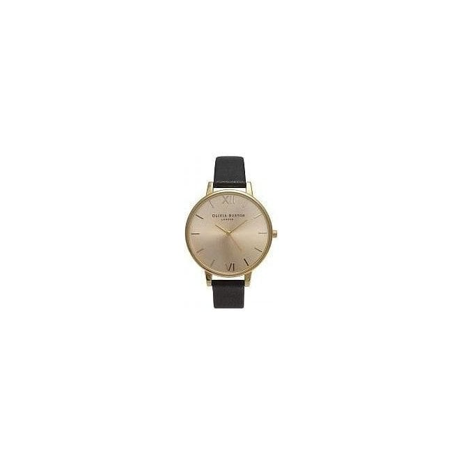 Olivia Burton Watches Olivia Burton Big Dial Black and Gold Watch