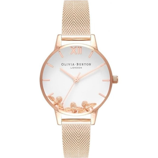 Olivia Burton Watches Busy Bees Rose Gold Mesh OB16CH01