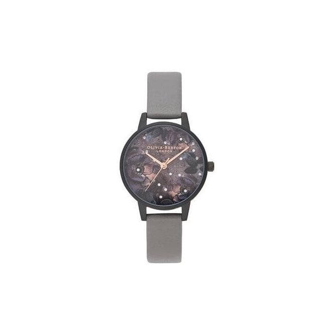 Olivia Burton Watches Celestial Vegan London Grey & Matte Black