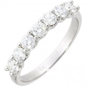Platinum and Diaomond Half Eternity Ring