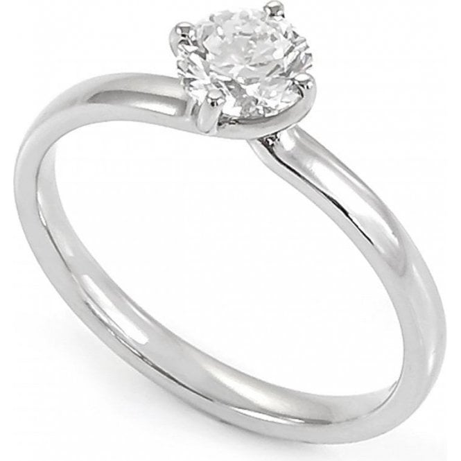 Platinum Single Stone Diamond Ring