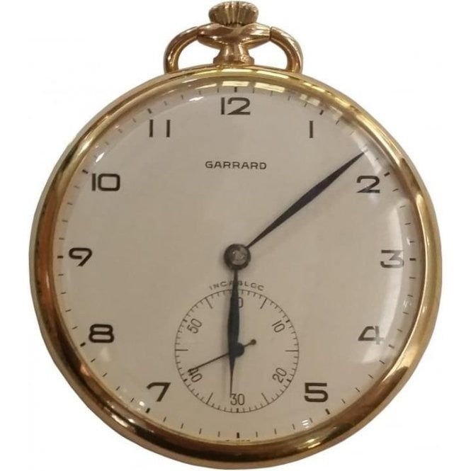Pre-owned 9ct Yellow Gold Garrad Pocket Watch