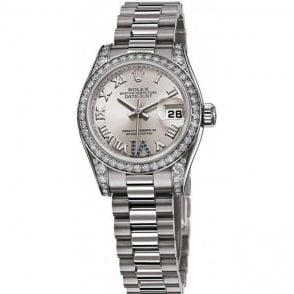 Rolex Ladies 18ct White Gold and Diamond Datejust Watch