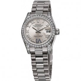 Rolex Ladies 18ct White Gold and Diamond Datejust Watch
